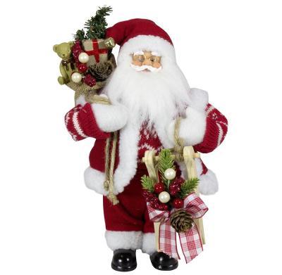 Vánoční dekorace Santa Ježíšek s dárky 30 cm