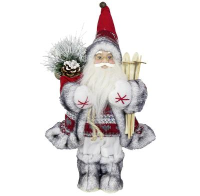 Vánoční dekorace Santa Ježíšek s lyžemi 30 cm