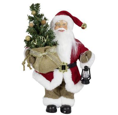 Vánoční dekorace Santa Ježíšek se stromečkem 30 cm