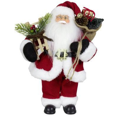 Vánoční dekorace Santa Ježíšek v červeném kabátku 30 cm