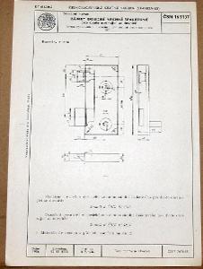 STARÁ NORMA ČSN 16 5137 1956 STAVEBNÍ KOVÁNÍ ZÁMKY NÁLEZOVÝ STAV