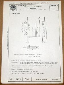 STARÁ NORMA ČSN 16 5156 1956 STAVEBNÍ KOVÁNÍ ZÁMKY NÁLEZOVÝ STAV
