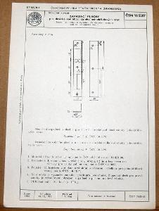 STARÁ NORMA ČSN 16 5207 1956 STAVEBNÍ KOVÁNÍ ZÁMKY NÁLEZOVÝ STAV