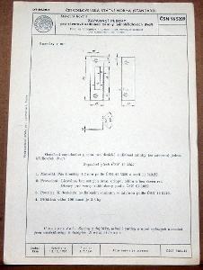 STARÁ NORMA ČSN 16 5209 1956 STAVEBNÍ KOVÁNÍ ZÁMKY NÁLEZOVÝ STAV