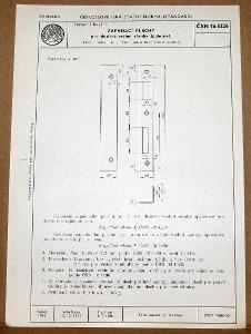 STARÁ NORMA ČSN 16 5226 1956 STAVEBNÍ KOVÁNÍ ZÁMKY NÁLEZOVÝ STAV