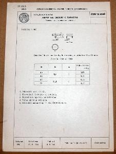 STARÁ NORMA ČSN 16 6365 1957 NÁBYTKOVÉ KOVÁNÍ NÁLEZOVÝ STAV