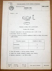 STARÁ NORMA ČSN 16 6440 1957 NÁBYTKOVÉ KOVÁNÍ NÁLEZOVÝ STAV