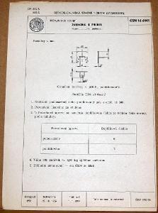 STARÁ NORMA ČSN 16 6441 1957 NÁBYTKOVÉ KOVÁNÍ NÁLEZOVÝ STAV