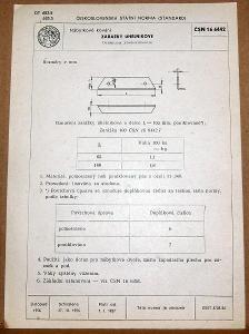 STARÁ NORMA ČSN 16 6442 1957 NÁBYTKOVÉ KOVÁNÍ NÁLEZOVÝ STAV