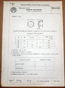 STARÁ NORMA ČSN 16 6444 1957 NÁBYTKOVÉ KOVÁNÍ NÁLEZOVÝ STAV