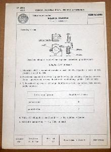 STARÁ NORMA ČSN 16 6446 1957 NÁBYTKOVÉ KOVÁNÍ NÁLEZOVÝ STAV