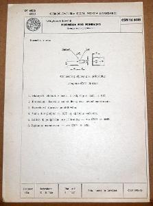 STARÁ NORMA ČSN 16 6448 1957 NÁBYTKOVÉ KOVÁNÍ NÁLEZOVÝ STAV