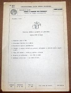 STARÁ NORMA ČSN 16 6449 1957 NÁBYTKOVÉ KOVÁNÍ NÁLEZOVÝ STAV