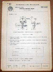 STARÁ NORMA ČSN 16 6468 1957 NÁBYTKOVÉ KOVÁNÍ NÁLEZOVÝ STAV