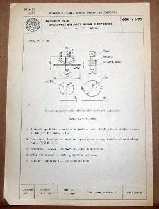STARÁ NORMA ČSN 16 6470 1957 NÁBYTKOVÉ KOVÁNÍ NÁLEZOVÝ STAV