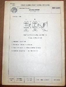 STARÁ NORMA ČSN 16 6472 1957 NÁBYTKOVÉ KOVÁNÍ NÁLEZOVÝ STAV