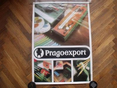 starý plakát PRAGOEXPORT (design 80 léta)
