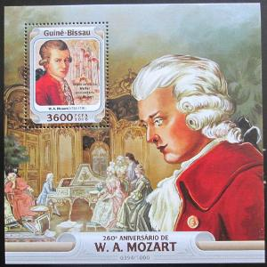 Guinea-Bissau 2016 Wolfgang A. Mozart Mi# Block 1473 Kat 13.50€ 0990B