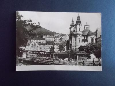 Karlovy Vary Vřídlo Kostel sv. Máři Magdalény