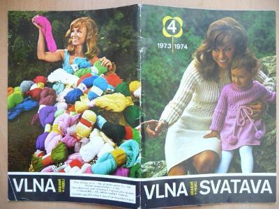 Katalog číslo 4. - Vlna - Svatava - 1973 / 1974 - včetně vzorků přízí
