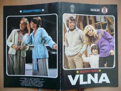 Katalog číslo 8 - Vlna - 1982 - zásilkový prodej - včetně vzorků přízí