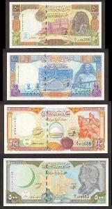 SYRIE SADA 50 + 100 + 200 + 500 Pounds 1997-1998 P-107-110 UNC