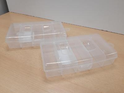 Plastový organizér do dílny, pro modeláře apod.,  stohovatelný, 1 kus