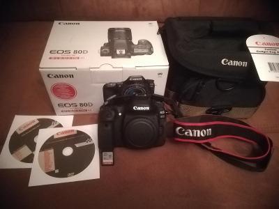 Canon EOS 80D se zárukou+zdarma karta SDHC 64 GB a nová brašna