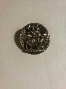 Řád svatého HUBERTA - velký odznak na uniformu .. dámský stříbro