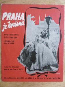 NOTY, TEXT, 1 KS, FILM ŠTĚSTÍ PRO DVA, VÍTOVÁ, 1940