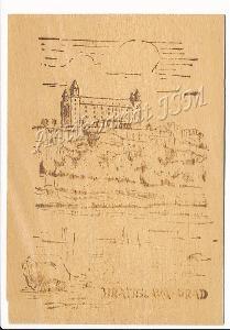 Slovensko H4118 Bratislava Hrad dřevěná pohlednice