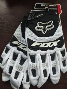 Motokrosové rukavice FOX bílé
