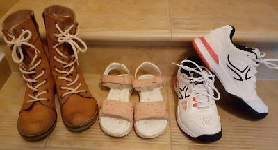 3x dívčí boty, vel. 36, zn. Lasocki  ... od 1,- Kč!