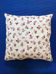 Polštář s obsahem levandulového květu - cca 45 cm - růžičky