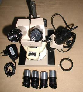 světelný binookulární mikroskop nový