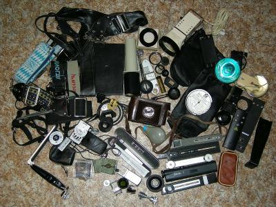 Konvolut fototechniky různého druhu a značek