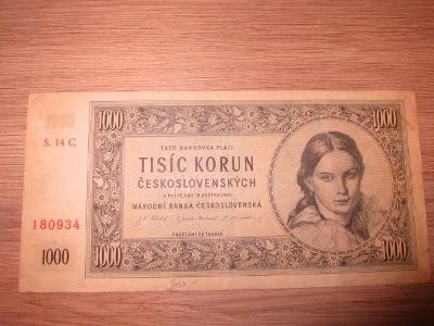 1000 korun československých