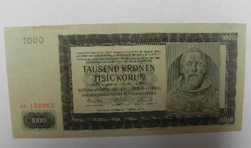 1000 KORUN  1942