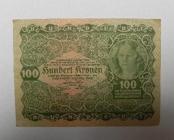 100 KORUN 1922  RAKOUSKO