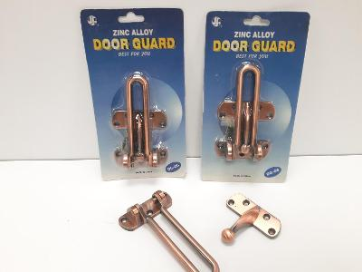 Bezpečnostní petlice na dveře, pojistka, možno i na okna, patinovaná