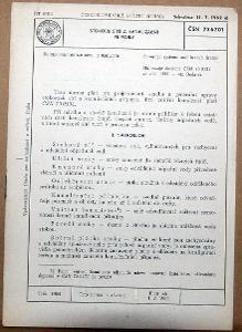 STARÁ NORMA ČSN 73 6701 1963 STOKOVÉ SÍTĚ A KANALIZAČNÍ PŘÍPOJKY NÁLEZ