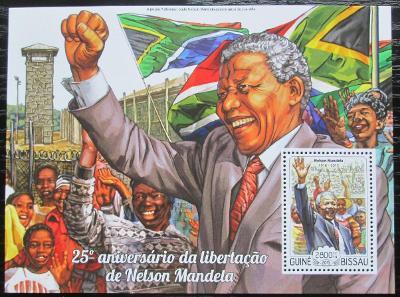 Guinea-Bissau 2015 Nelson Mandela Mi# Block 1335 Kat 11€ 1052