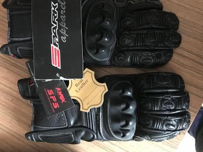 Kožené motocyklové rukavice SPARK