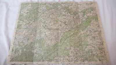 Stará vojenská mapa 1938-Beroun-Dobříš-Hořovice-Záhořany-Žebrák