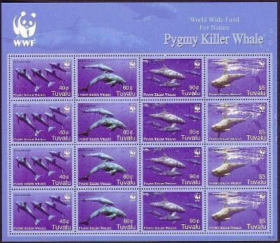Tuvalu 2006 Fereza malá, WWF Mi# 1307-10 Bogen Kat 54€ 1118