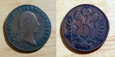 František I. - 1 Kr 1800 A - KRÁSNÝ