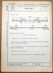 STARÁ NORMA OEG 34 8613 1979 ELEKTROTECHNIKA SOUČÁSTI VN VEDENÍ