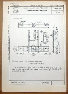 STARÁ NORMA OEG 34 8617 1979 ELEKTROTECHNIKA SOUČÁSTI VN VEDENÍ