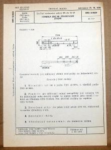 STARÁ NORMA OEG 34 8624 1979 ELEKTROTECHNIKA SOUČÁSTI VN VEDENÍ