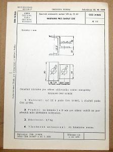 STARÁ NORMA OEG 34 8626 1979 ELEKTROTECHNIKA SOUČÁSTI VN VEDENÍ